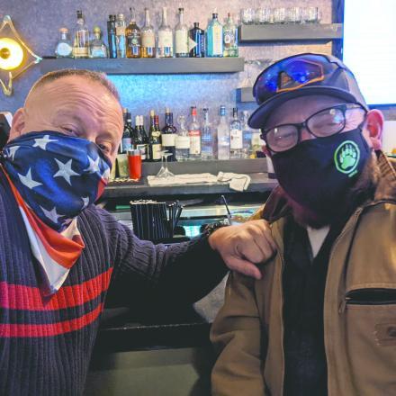 Matt James and Richard Looman at The Pines