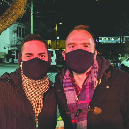 Rinaldo Martinez and Andrew Novak at the Blue Moon