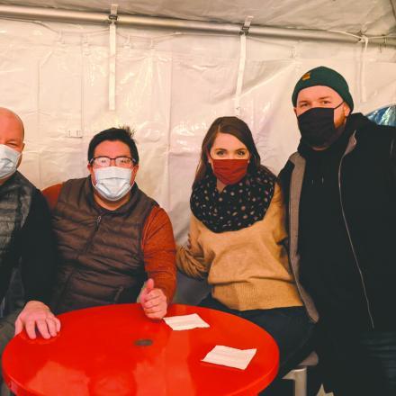 Shawn Hilty, Wayne McCabe, Kira McCabe, and Korey McCabe at Diego's