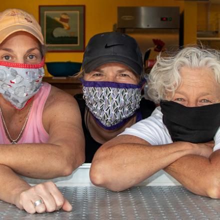 Lori Kline, Monica Chmielewski, Jen Booth at Lori's Café