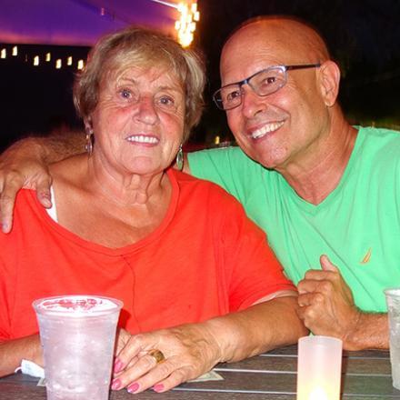 Peggy Reid and Bruce Ruth at Aqua