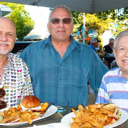 Richard Thibodeau, Michael Scalise, and David Carder at Aqua