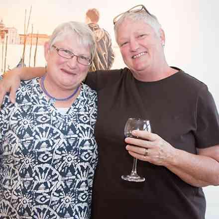 Caroline Huff Opening - Philip Morton Gallery
