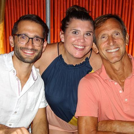 Matt D'Amico, Carolyn Rooney, and Scott Brinizter at Aqua