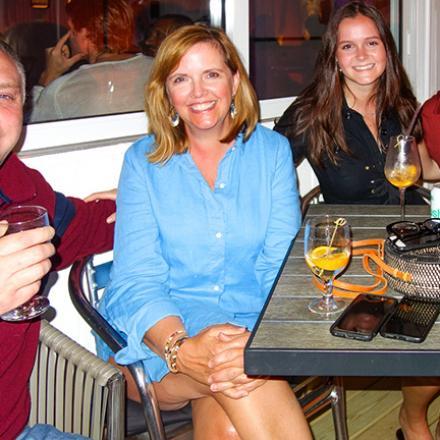 Dave McCarthy, Amy Kaden, Emily Kaden, Walt Cassell at Aqua