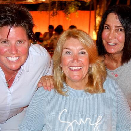 Beth Yocum, Jackie Blue, Deb Kennedy at Aqua