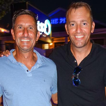 John Bator and Kevin Naff at Aqua