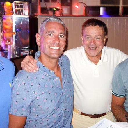 RB Commissioner Edward Chrzanowski, Tom Newton, Tony Burns, and John Hackett at Blue Moon