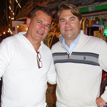 Derek Thomas, Brian Shook at Purple Parrot