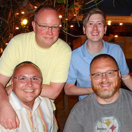 David Brinton, Joe Sterner, RB Commissioner Edward Chrazanowski, and Terry  Kistler at Purple  Parrot