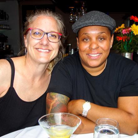 Mia Dye, Juanita Dye at the Blue Moon