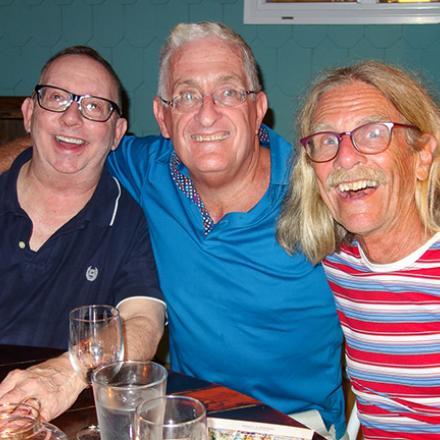Robert Layne, Ken Davies, and Rod Cook at Back Porch Café
