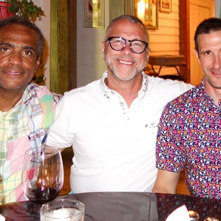 Mark Watts, Chris Cahill, Richard Cahill at the Back Porch Cafe