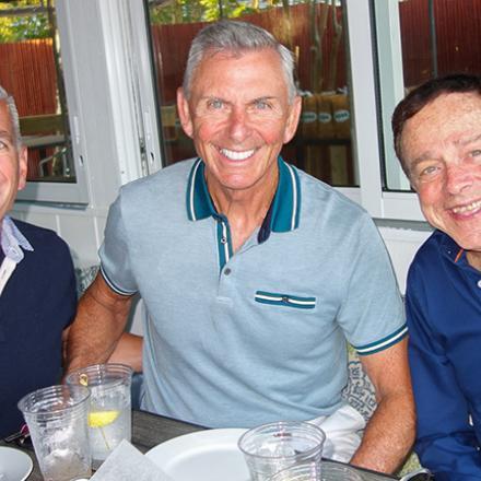 Tom Newton, John Hackett, Tony Burns at Aqua