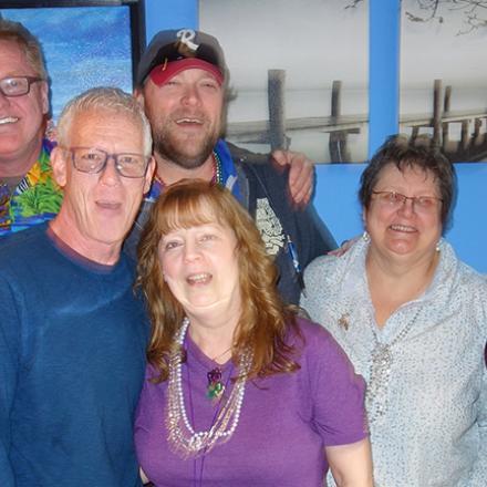 Rehoboth Beach 2020 Gumbo Crawl - Pat Smythe, John Glenstrup, John Black, Donna Smythe, Brian Skoff, Kathy Nacole, Lisa Bufo