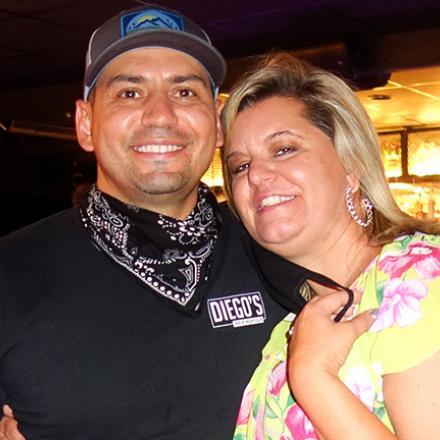 Eddie Adam and Amy Thompson at Diego's Bar and Nightclub