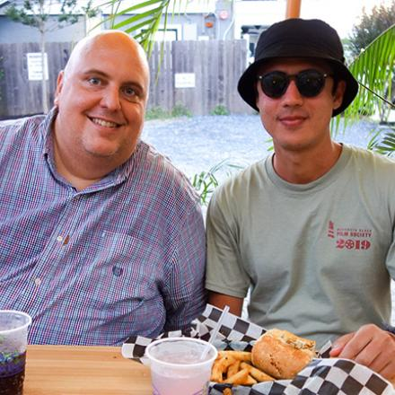 David Mariner and Khusan at Iguana Grill