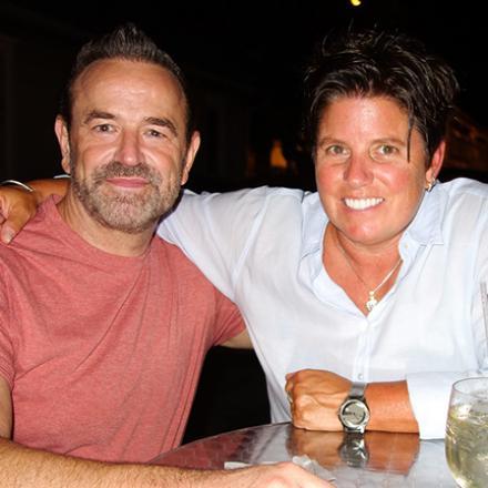 Jimmy Krivda and Beth Yocum at Diego's Bar and Nightclub