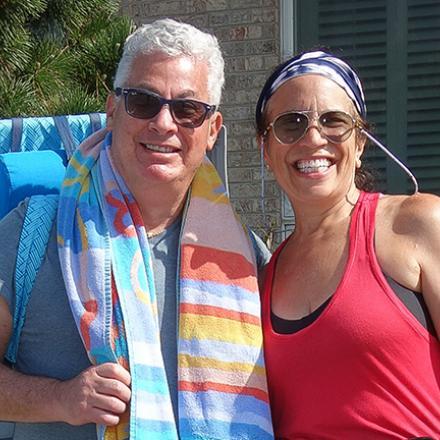 Steve Jaskulsky, Andrea Jaskulsky at Poodle Beach