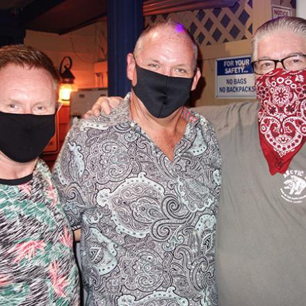 Jamie Thompson, Chuck Bhell, and Richard Nacey at Diego's Bar and Nightclub