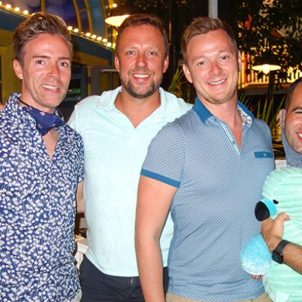 David Treanor, David Bediz, Tim Meink, Steve Thompson at Blue Moon