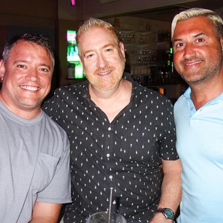 Joe Harper, John Flynn, and Mike DeFlavia at Blue Moon