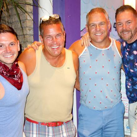 Robb Nonemacker, Al Drulis, Scott Silby, Tom Streeper at the Purple Parrott