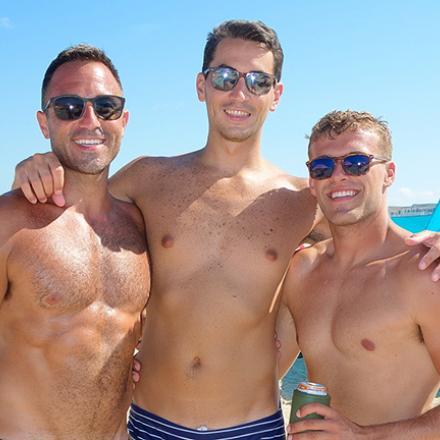 Louis Panos, Jacob Austin, and Marcus Sobelsky at Poodle Beach