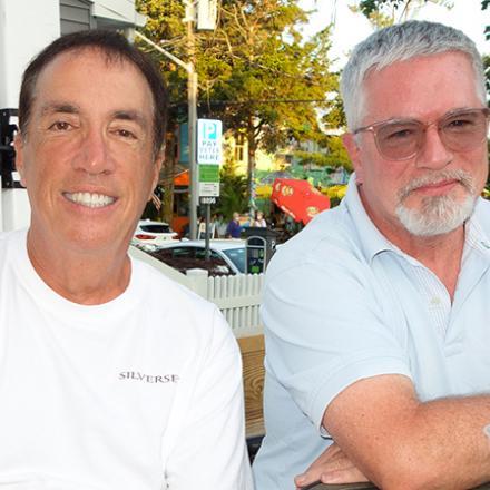 Bob DeFendis and Ron Dempsey at Aqua