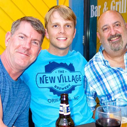 John Redmond, John Coleman, Bryan Figliozzi at Rigby's