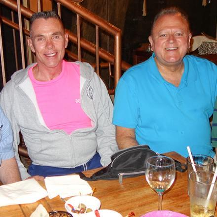 Don Alexander, Daniel Bowler, Tom Resh, and Jeffrey Meyers at Café Azafran