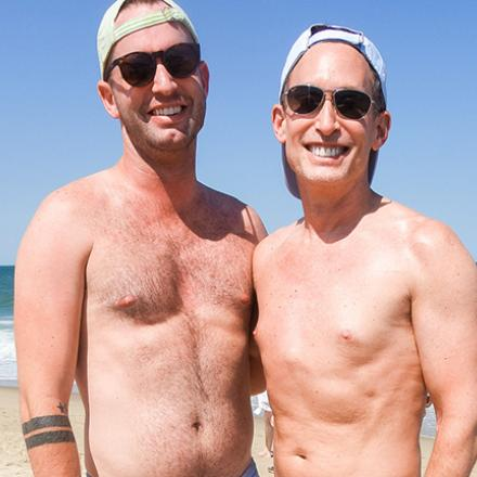 Richard Duncan and Michael Fishman at Poodle Beach