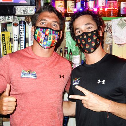 Garrett Faulker and Jamie Romano at Purple Parrot