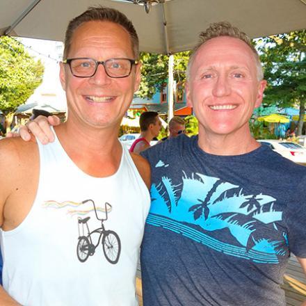 Chris Beagle and Eric Engelheart at Aqua