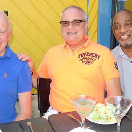 Philip Cross, Preston Watkins, and Gregg Brown at Rigby's