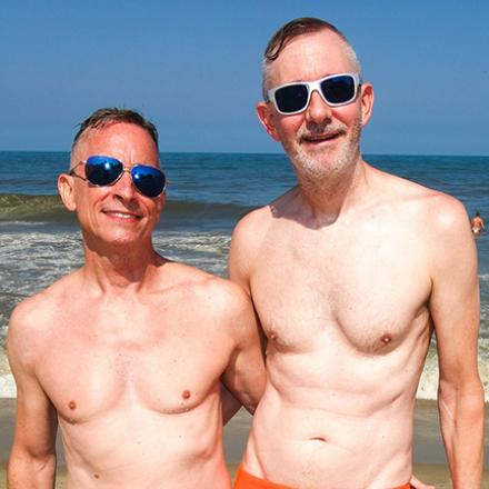 Chris Murray, Tom Ramsey at Poodle Beach