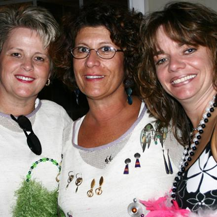 Monica Parr, Emilie Paternoster, and Nancie Allen at Mary Beth and Maggie's Excess-ory Birthday Party (2006)