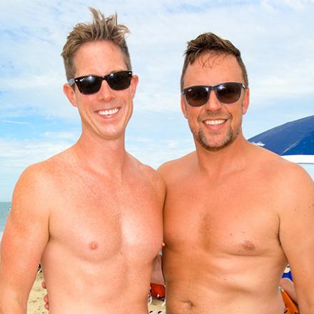 Travis Patton, and David Bediz at Poodle Beach