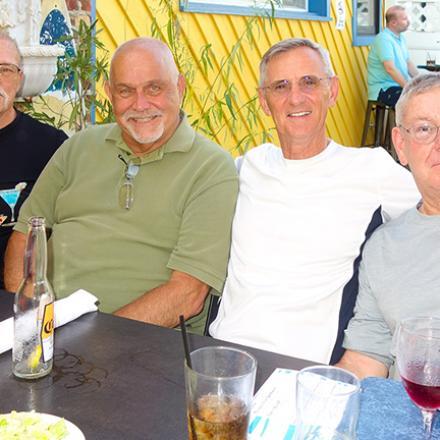 William Wheatley, Tom Brown, Ken Higham, and Bill Ehrlich at Rigby's