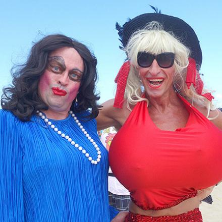 Drag Volleyball on Poodle Beach