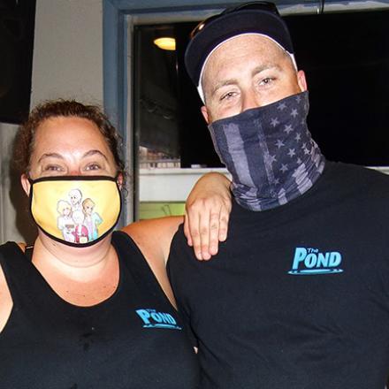 Rhonda Weldon and Tanner Deklerow at The Pond