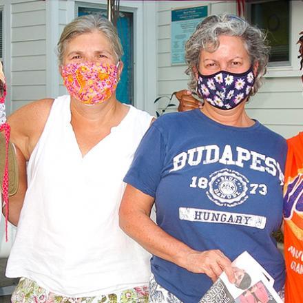 Lori Kline, Monica Chmielewski, Donna Davis, and Gail Jackson at the CAMP Rehoboth Courtyard