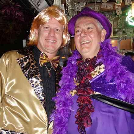 Purple Parrot Halloween Party