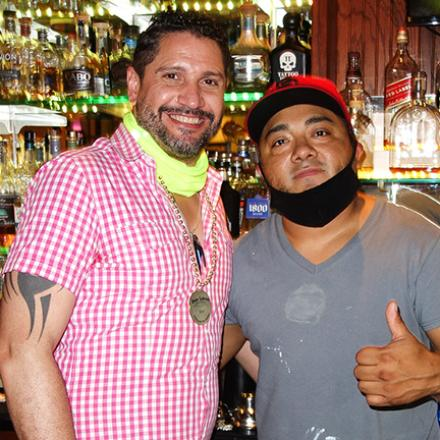 Jacob Liriano and Carlos Hernandez at Dos Locos
