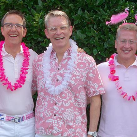 Rod and Steve's Pink Party