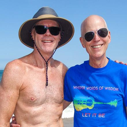 Mark Matey and Jay Kottoff at Poodle Beach