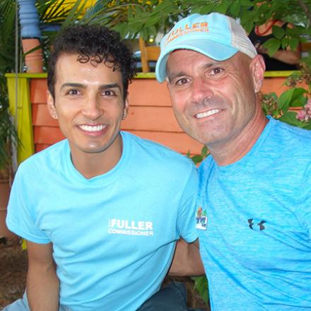 Ronal Garcia and Hugh Fuller at Iguana Grill
