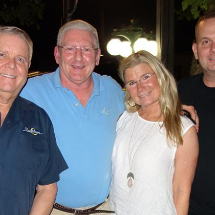 Tim Ragan, Randy Haney, Kim Martin, and Scott Wealand at Blue Moon