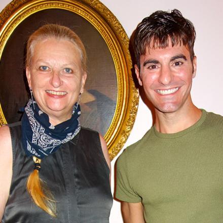 Sandra Skidmore and Michael Solonski at La Fable.