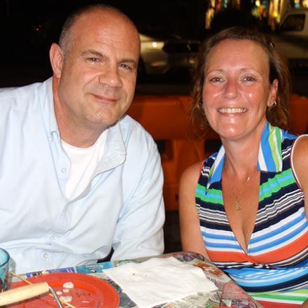 Trey Kraus and Laura Bartus at Rudy's